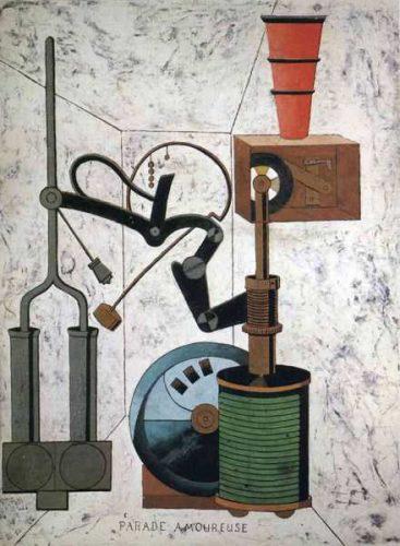 Francis Picabia, Aşk Geçidi (Karton üzerine yağlı boya,1917)
