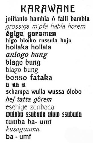 Hugo Ball, Evrensel şiirler (1917)