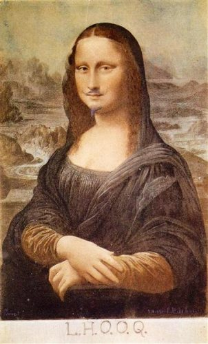 Marcel Duchamp, Monalisa Kartpostalı (Karakalem, 1919)