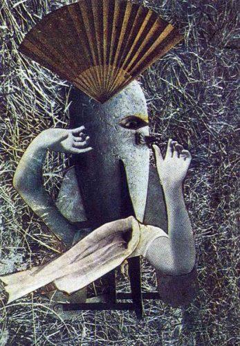 Max Ernst, Çin Bülbülü (Kolaj, 1920)